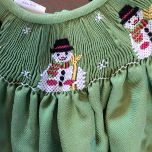 Dresses - Smocked snowman dress 12 month
